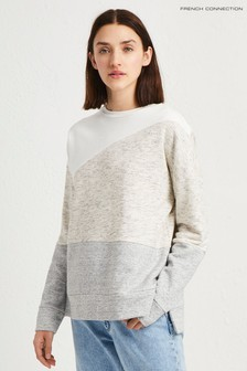 French Connection Grey Patchwork Tonal Sweat
