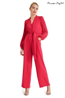 Phase Eight Pink Audrey Blouson Sleeve Jumpsuit