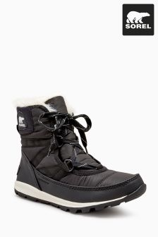 Sorel® Black Whitney Short Lace-Up Waterproof Boot