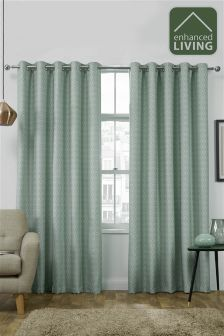Enhanced Living Luxury Interlined Thermal Jacquard Curtains
