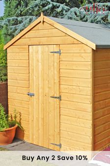 Durham 6ft X 8ft Garden Shed Assembled By Shire