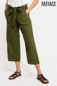 FatFace Green Brooke Cropped Trouser