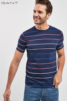 GANT Multi Stripe Short Sleeve T-Shirt