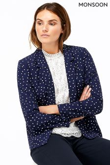 Monsoon Blue Sydney Spot Jacket