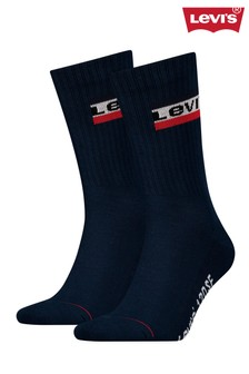 Levi's® Regular Cut Sportswear Logo Socks Two Pack