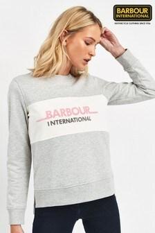 Barbour® International Grey Shuttle Logo Sweatshirt