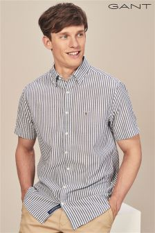 GANT Persain Blue Seersucker Stripe Shirt