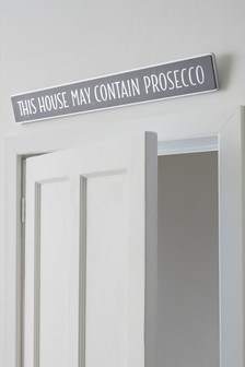 Prosecco Wooden Wall Plaque