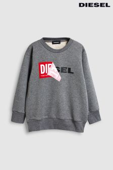 Diesel® Kids Grey Sally Crew Neck Sweater