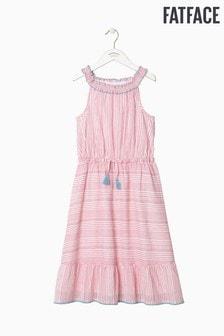 Rochie lungă FatFace Ruby roz cu dungi
