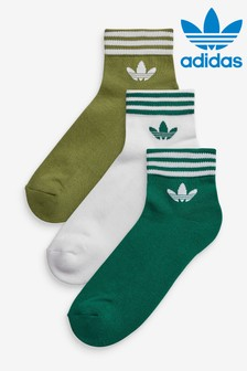 adidas Originals Green Multi Mid Cut Socks Three Pack
