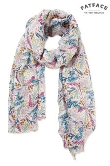 FatFace Ivory Dragonfly Floral Scarf