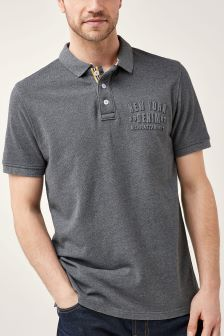 Embossed Graphic Polo