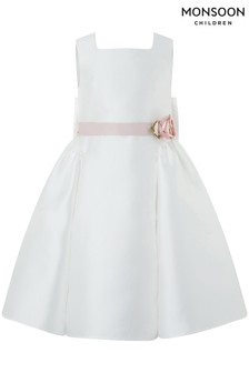 Monsoon Ivory Pearl Duchess Dress