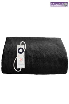 Dreamland Relaxwell Luxury Heated Black Throw