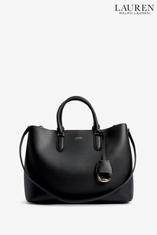 Ralph Lauren Black Marcy Satchel Bag