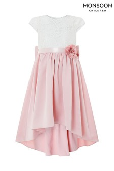 Monsoon Dusky Pink Charlotte High Low Dress
