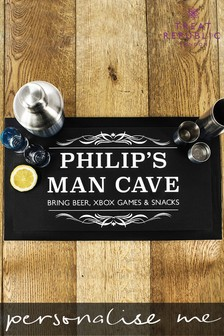 Personalised Gentlemen's Man Cave Bar Mat by Treat Republic