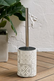 Tile Print Toilet Brush