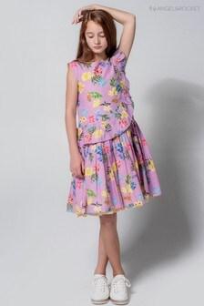فستان صيفي أرجواني بنقش الزهور من Angel & Rocket