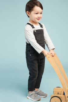 Dungarees And Stripe T-Shirt Set (3mths-6yrs)