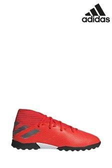 Baskets de football adidas Redirect Nemeziz Turf rouges pour enfant et ado