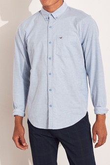 Chemise Oxford Hollister bleue
