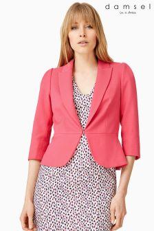 Damsel Pink Wilton Tabitha Base Peplum Jacket