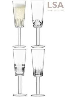 Set of 4 LSA International Tatra Flutes
