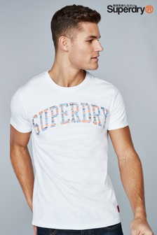 Superdry White Embossed T-Shirt