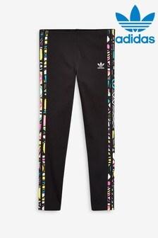 adidas Originals Black Aztek 3 Stripe Leggings
