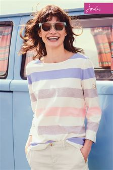 Joules Blue Stripe Harbour Jersey Top