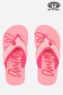 Animal Swish Logo Girls Flip Flop