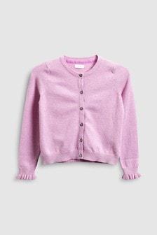 褶邊袖口針織外套 (3-16歲)