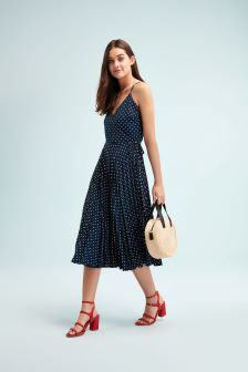 Pleat Skirt Cami Dress