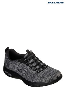Skechers® Black Heathered Mesh Bungee Slip-On With Air Cooled Memory Foam