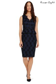 Phase Eight Navy Farrah Lace Dress