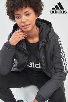 adidas Black 3 Stripe Jacket