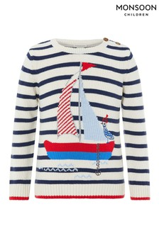 Monsoon Ivory Bob Boat Knitted Sweater