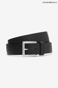 Emporio Armani Black Tongue Belt