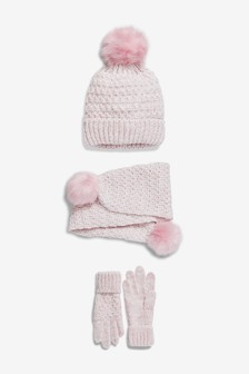 3 Pack Hat, Scarf & Gloves (Older)