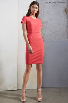 French Connection Azelea Pink Glass Stretch Bodycon Dress