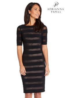 Adrianna Papell Nude Illusion Banded Sheath Dress