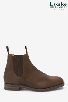 Loake Dark Brown Chatsworth Chelsea Boots
