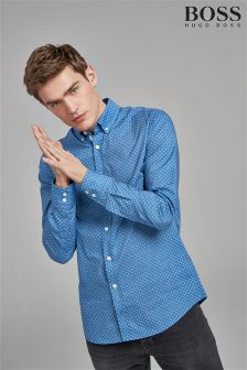 BOSS Blue Cloud Print Shirt