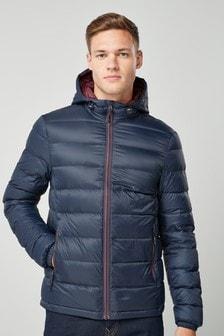Jachetă cu umplutură din puf și glugă