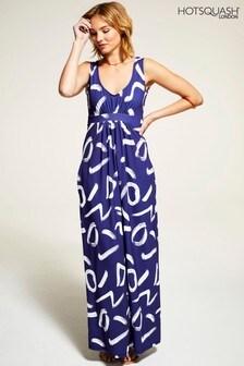 HotSquash Navy Sleeveless Empire Line Maxi Dress