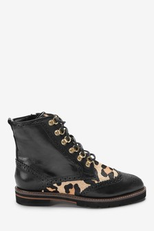 Signature Comfort Leather Lace-Up Boots