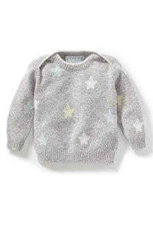 Szary, kaszmirowy sweter niemowlęcy Pure Collection