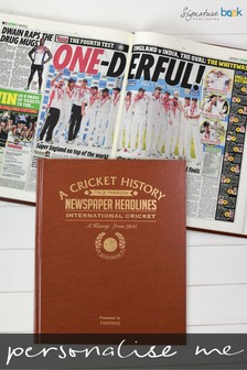 Personalised International Cricket Newspaper Book by Signature Book Publishing
